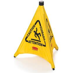 Modellbeispiel: Pop-Up Pylon -Caution- Rubbermaid, 3-seitig, 508 mm Höhe (Art. 12145)