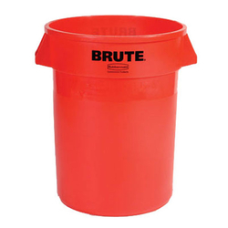 Modellbeispiel: Abfallcontainer -BRUTE- Rubbermaid, Volumen 121,1 Liter, in rot ohne Deckel (Art. 12463-01)