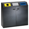 Recyclingstation -Cubo Frasco- 240 Liter aus Stahlblech, ...