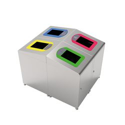 Modellbeispiele: Recyclingbehälter -Pro 34- als Recyclingstation (Art. 38601, 38602, 38603, 38604)